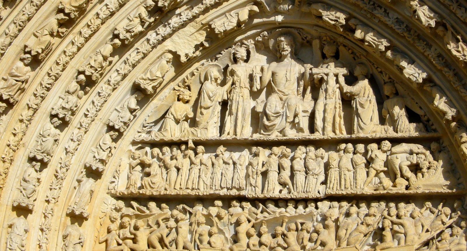 Poitiers, le portail de la Cathédrale Saint-Pierre   Photo : © Emmanuelle Dumont