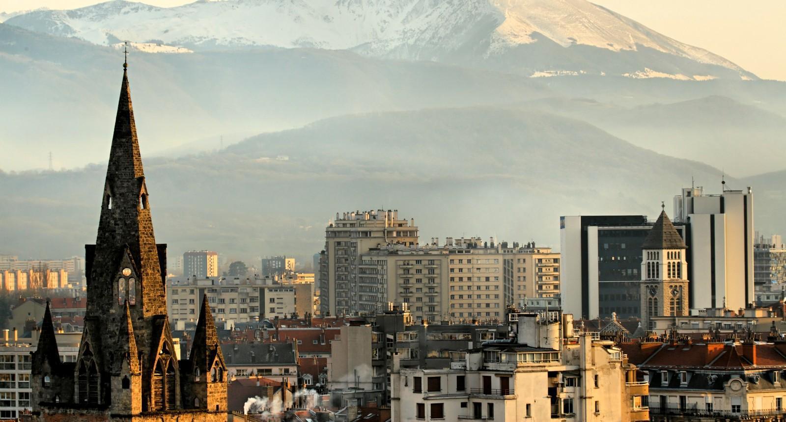 Grenoble depuis la Montée de Chalemont
