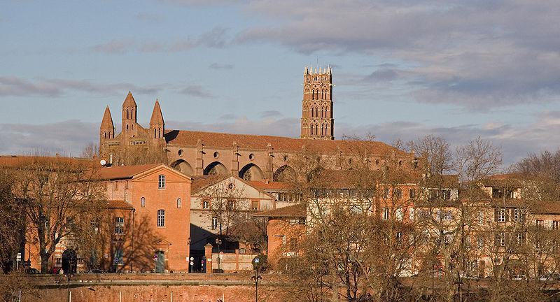 L'église des Jacobins depuis la Garonne