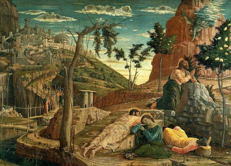 Andrea Mantegna : Jésus au jardin des oliviers