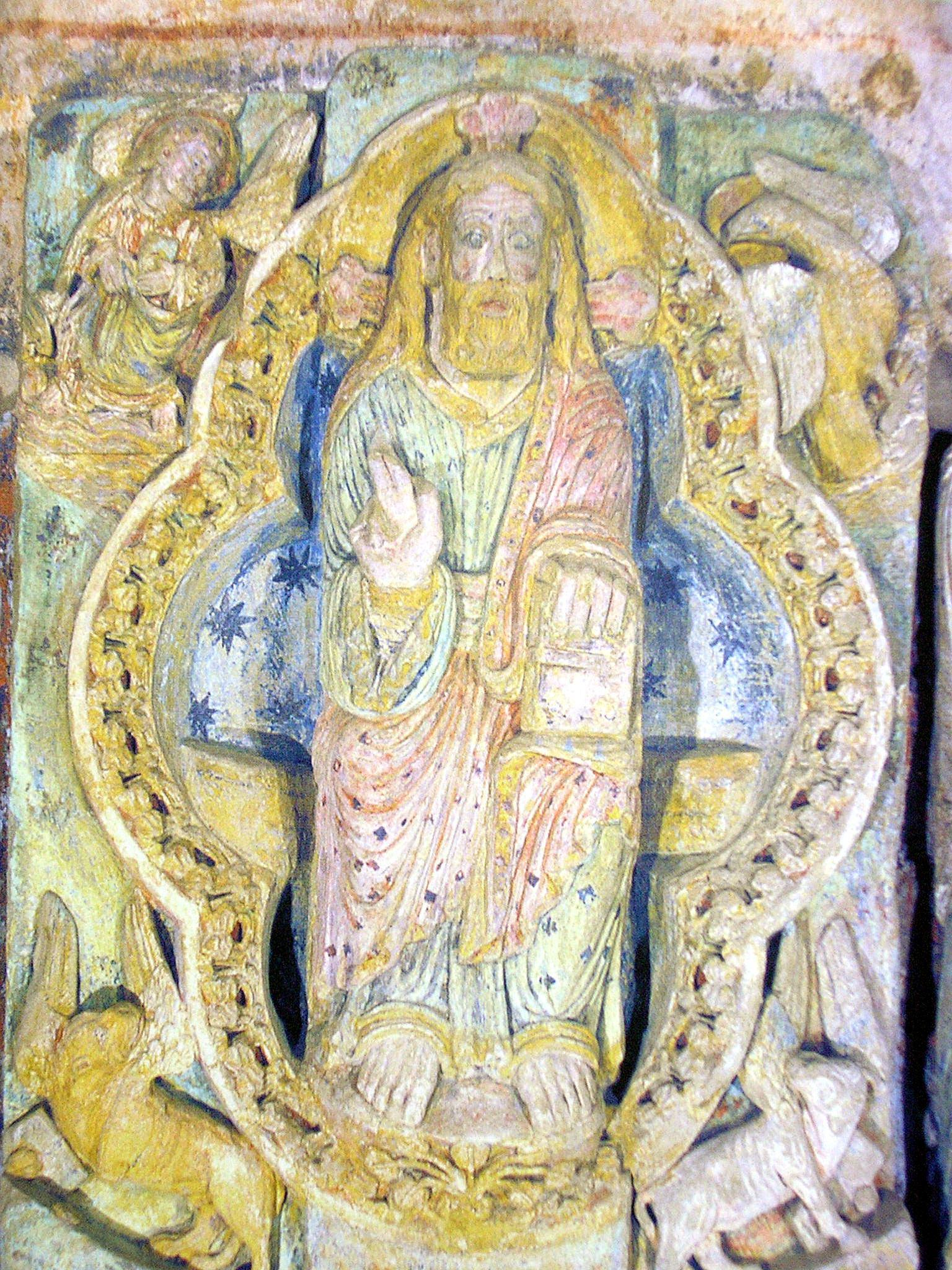 Statue polychrome de l'abbatiale de Mimizan