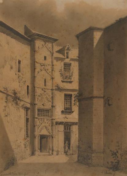 Maison de la reine bérengère : dessin de 1855