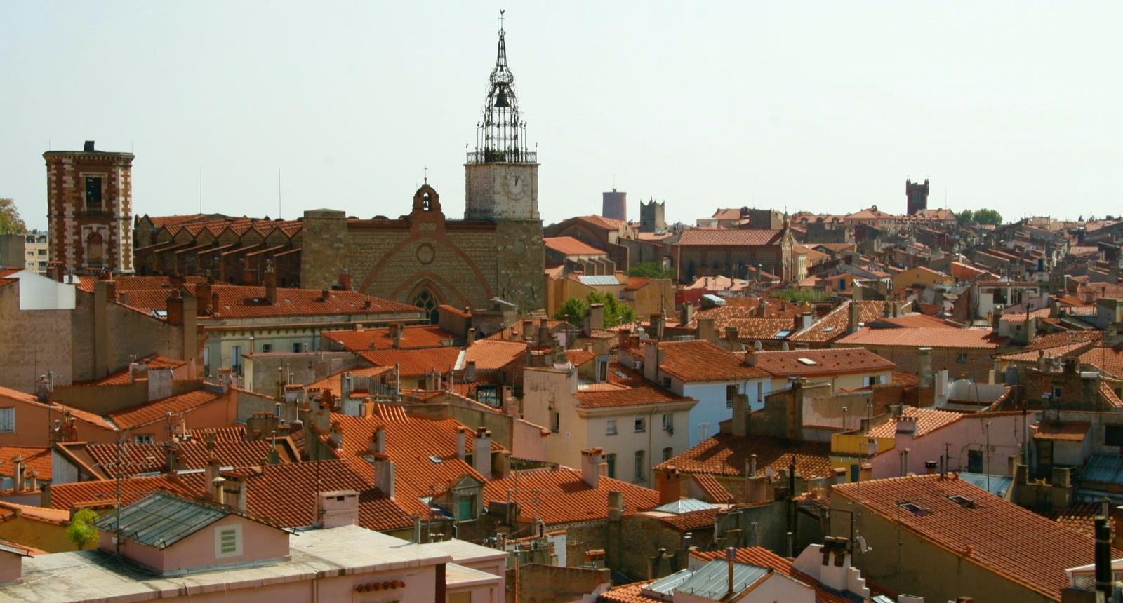 Perpignan, vue du Castillet