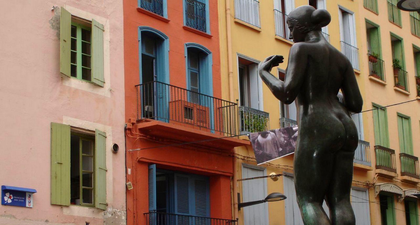 Perpignan, statue de Maillol le Catalan