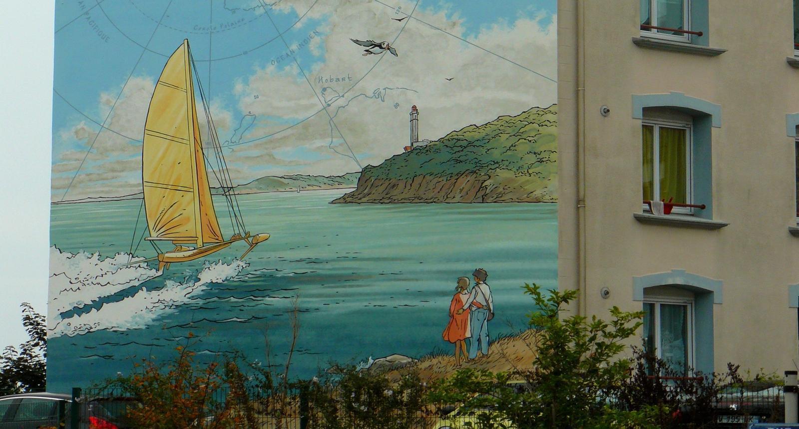 Brest, Fresque rue Anatole France (de de Pascal Pellerin)
