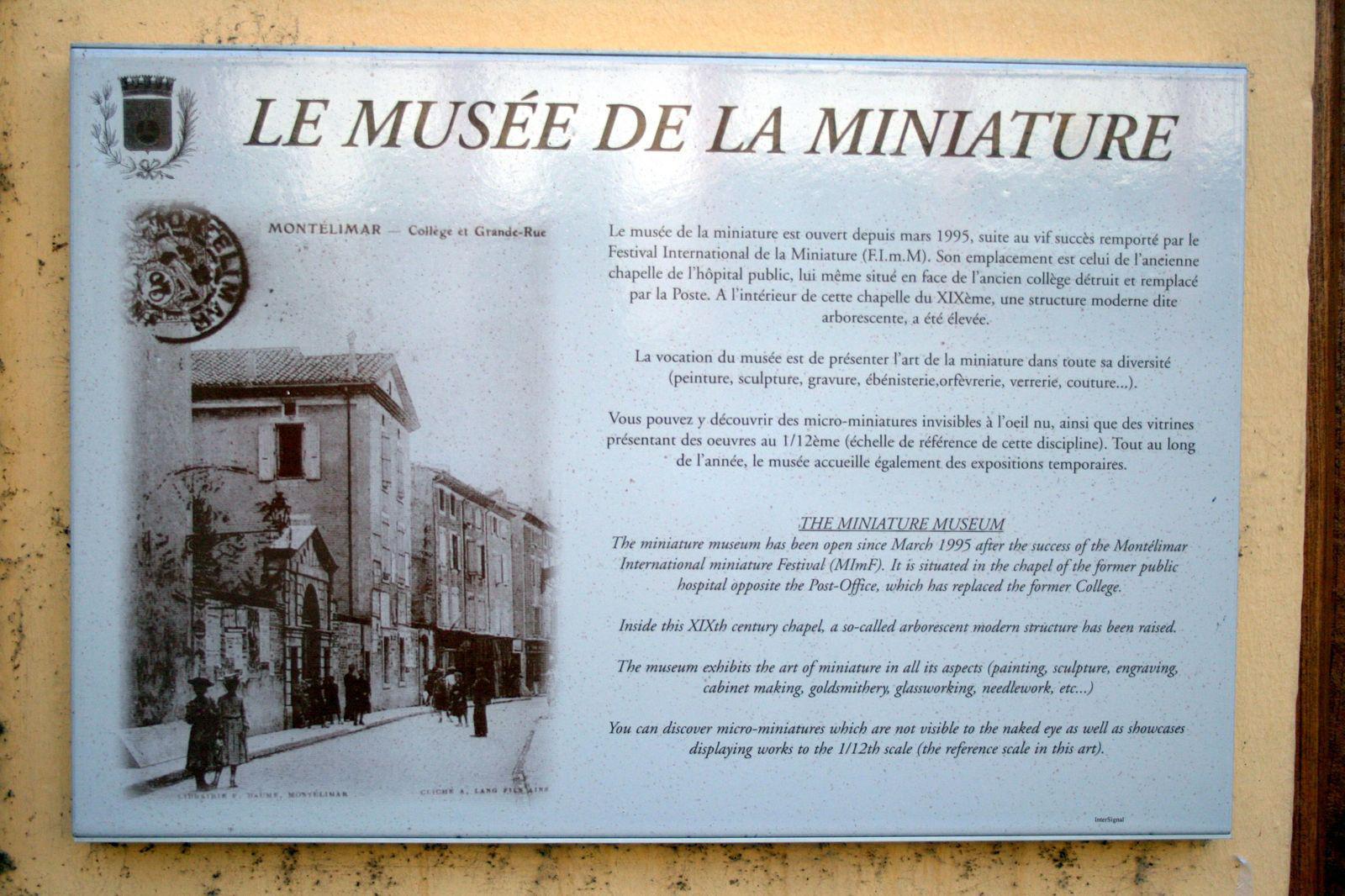 Image : Musée de la Miniature de Montélimar