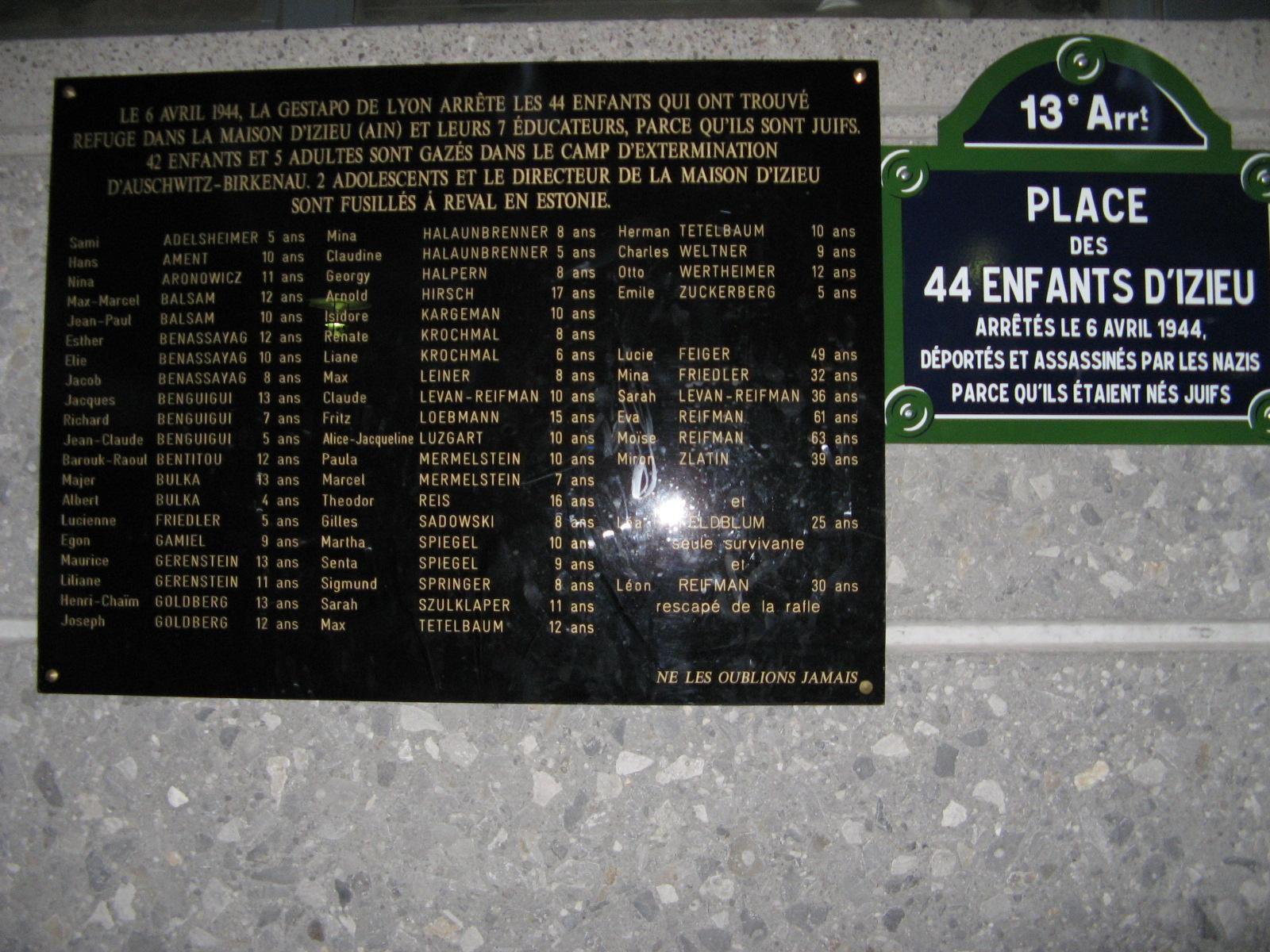 Mémorial des enfants juifs exterminés d'Izieu_Izieu