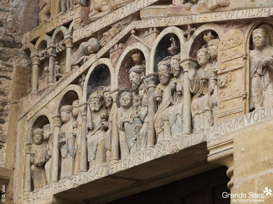 Tympan du portail - Abbatiale Saint Foy_Conques