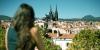 Vue sur les toits de Clermont-Ferrand et la cathédrale ND de l'Assomption