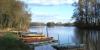 Barques sur la Sarthe dans le Maine-et-Loir