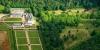 Vue aérienne du chateau de Montgeoffroy
