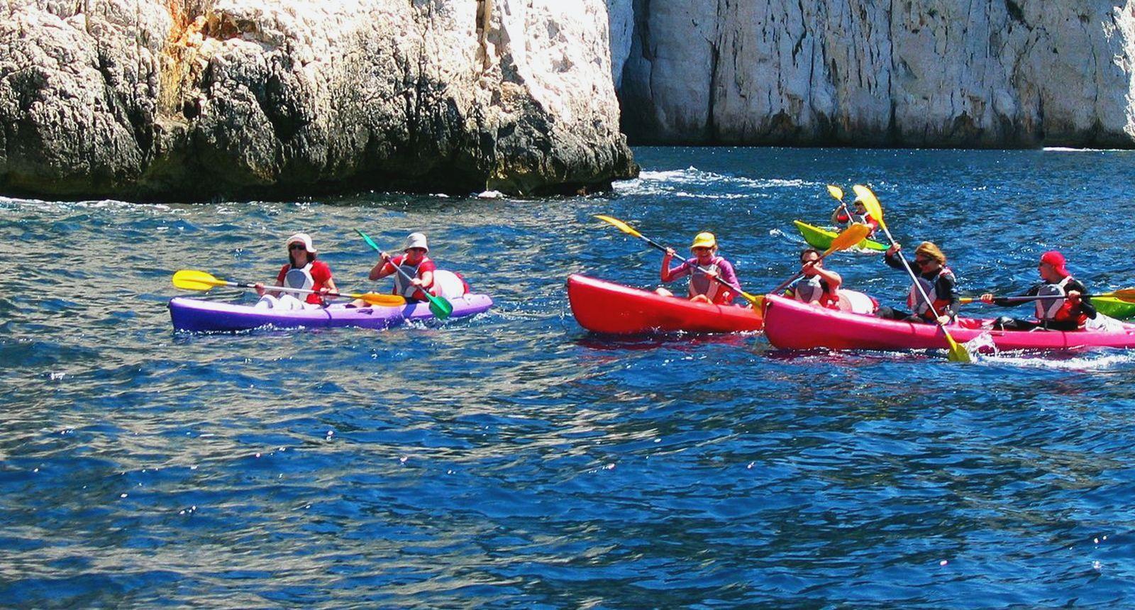 Kayak de mer dans les calanques de Cassis