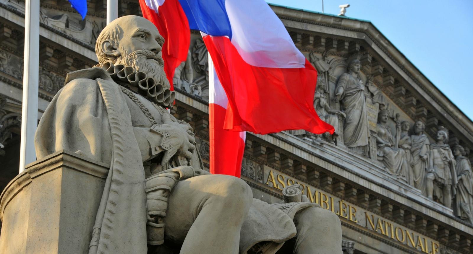 Le Palais Bourbon à Paris, siège de l'Assemblée Nationale