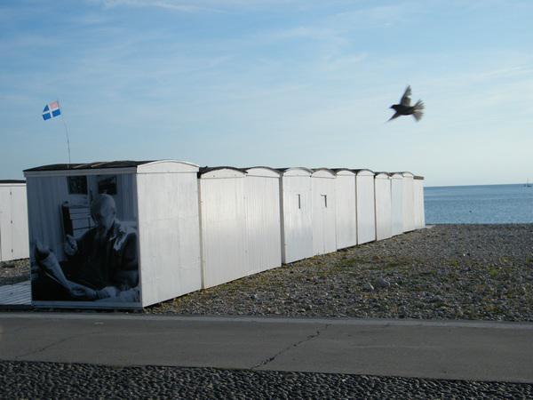 Le Havre, cabines sur la plage