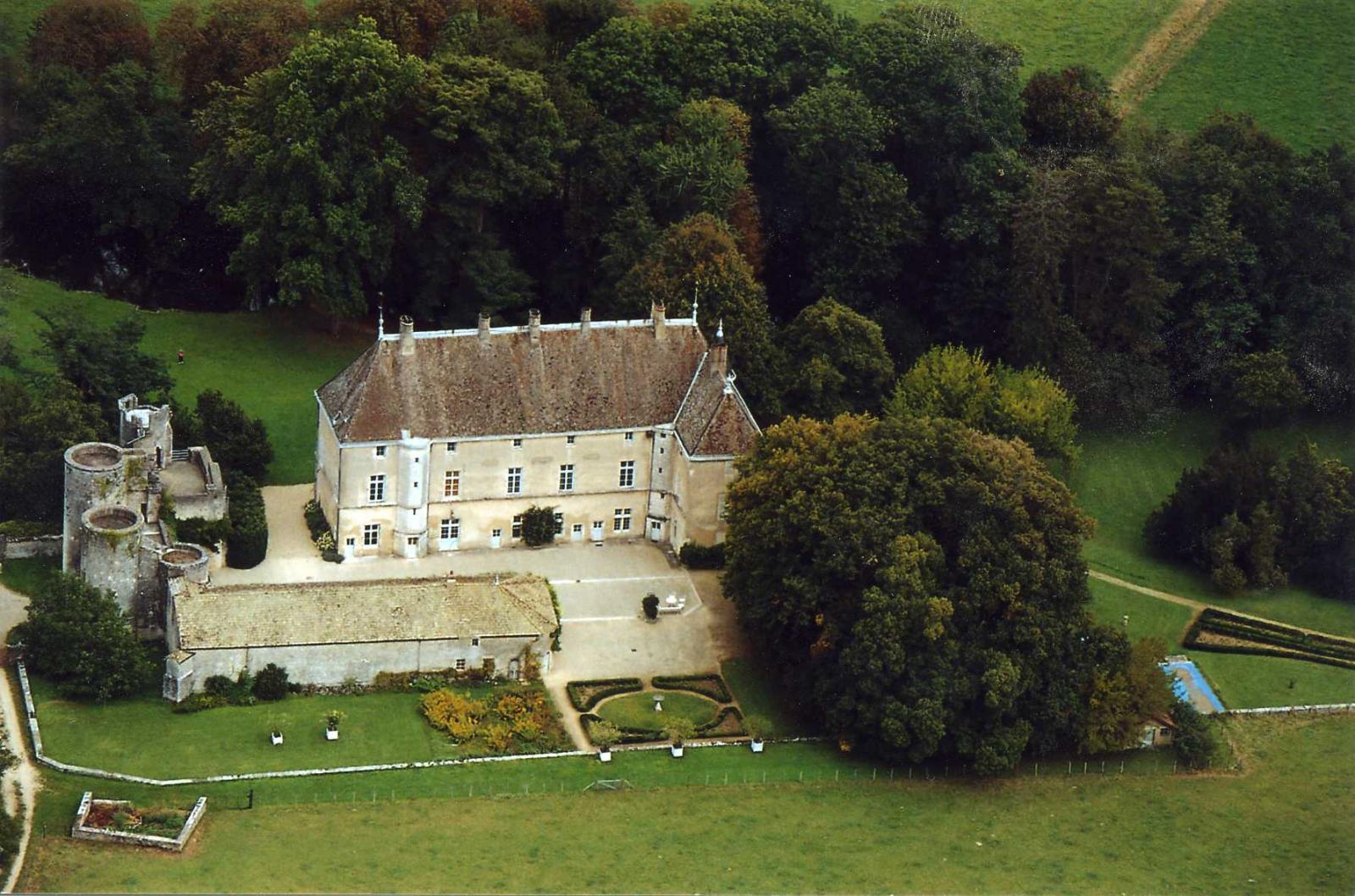 Vue aérienne de Germolles