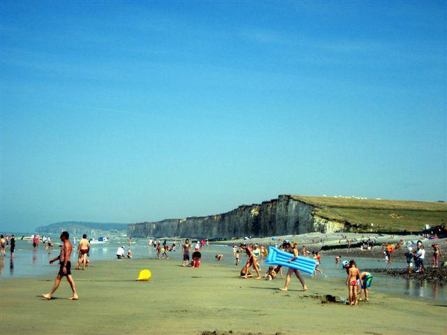 la plage de St Aubin sur mer