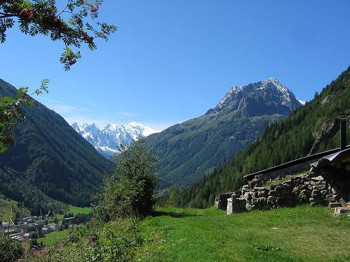 VALLORCINE: le Mt Blanc & les Aig. Rouges