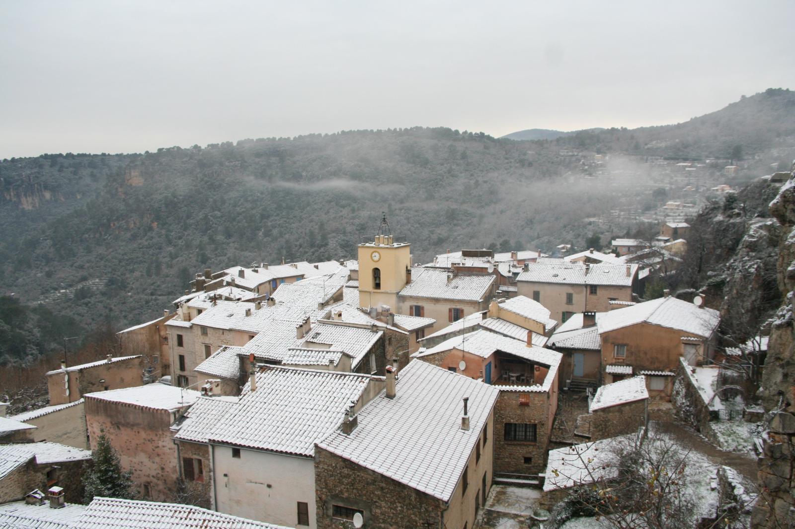 Chateaudoble sous la neige