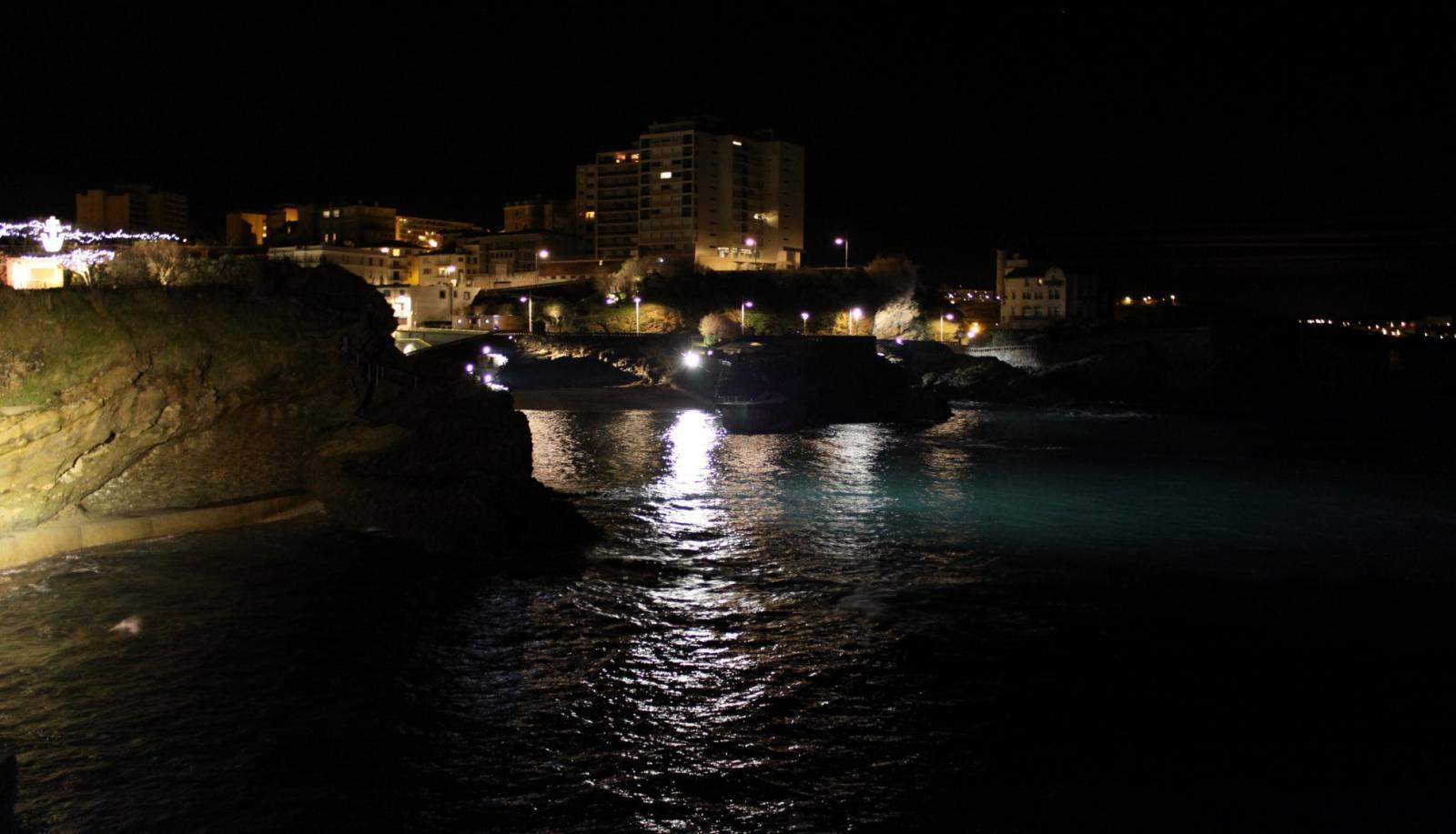 Biarritz la nuit