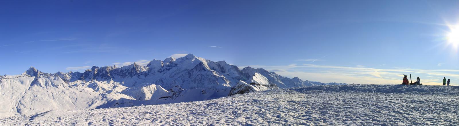 Mont-Blanc vu des Grandes Platières