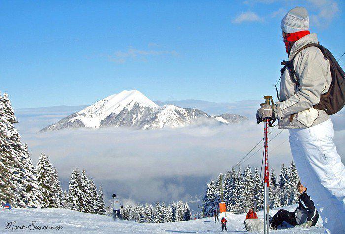 Sur les pistes de ski de Mont-Saxonnex