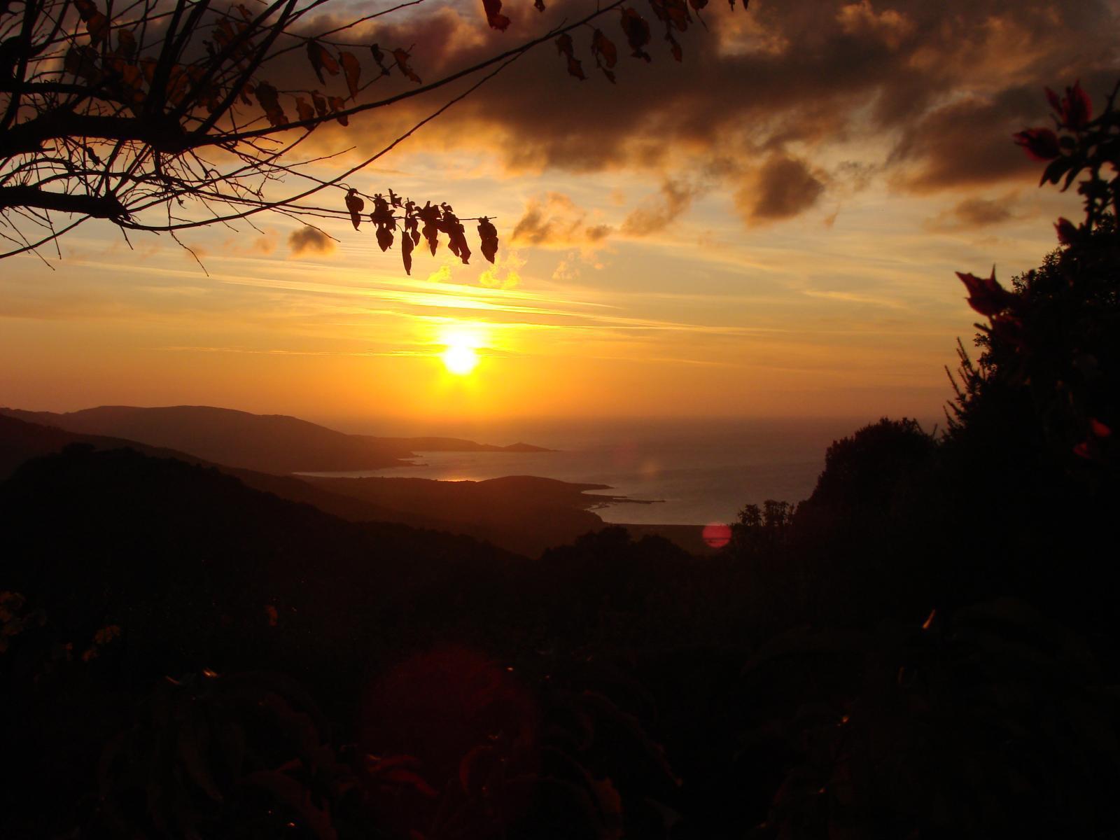 Vue des gites coucher de soleil