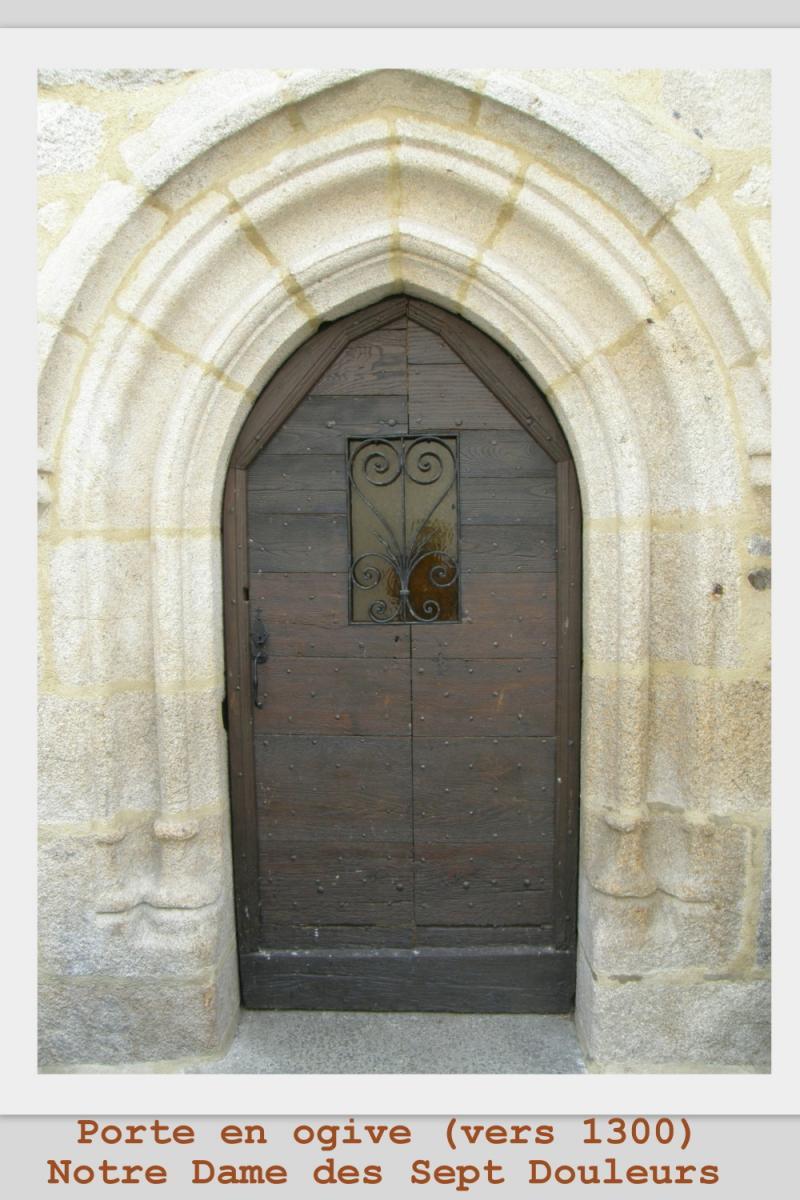 Porte en ogive XIIIè siècle