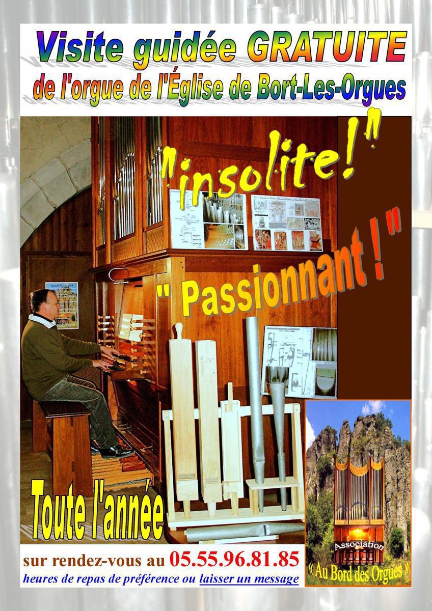 Visites de l'orgue de l'église de Bort-Les-Orgues