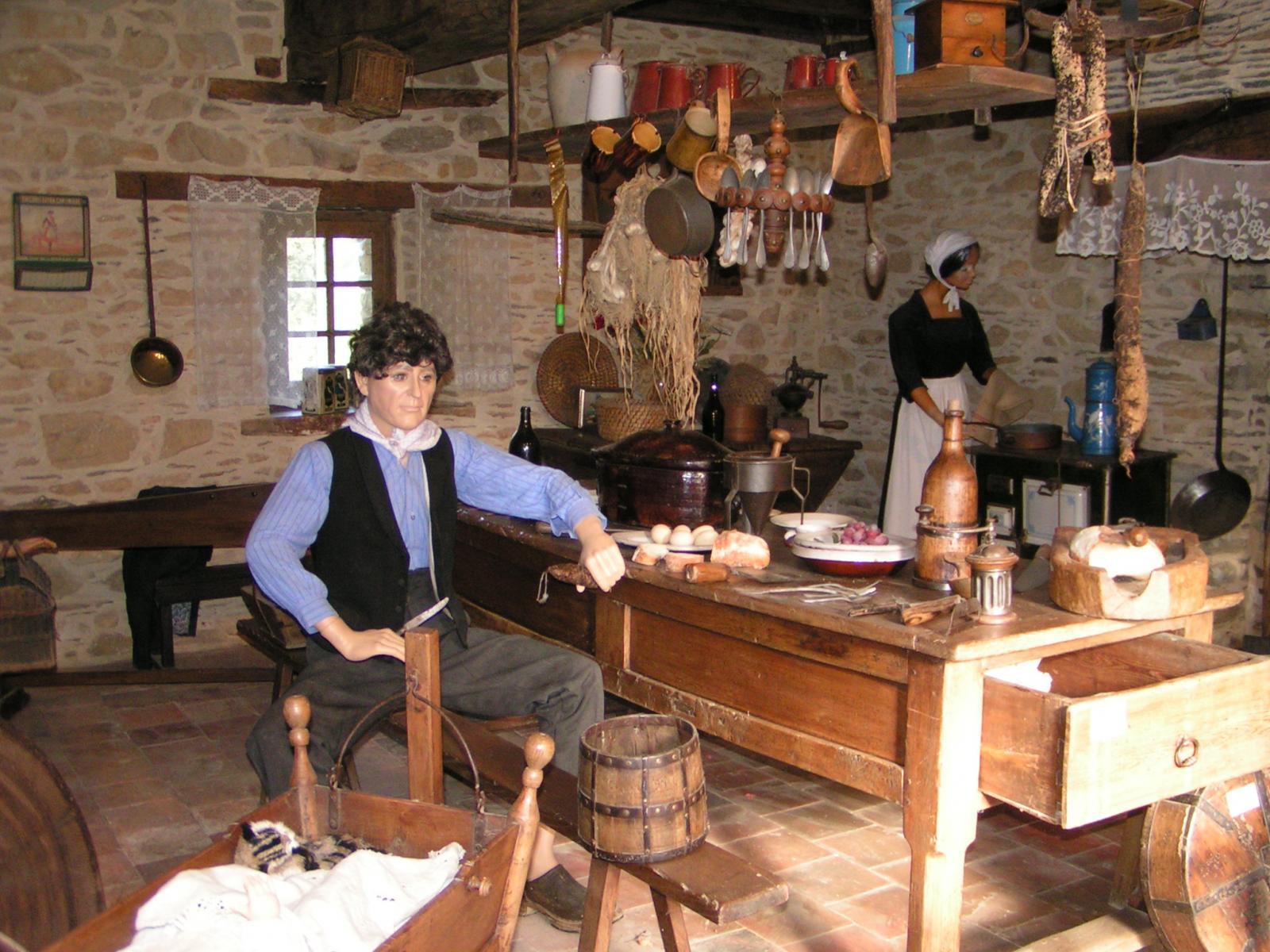 La cuisine du village 1900