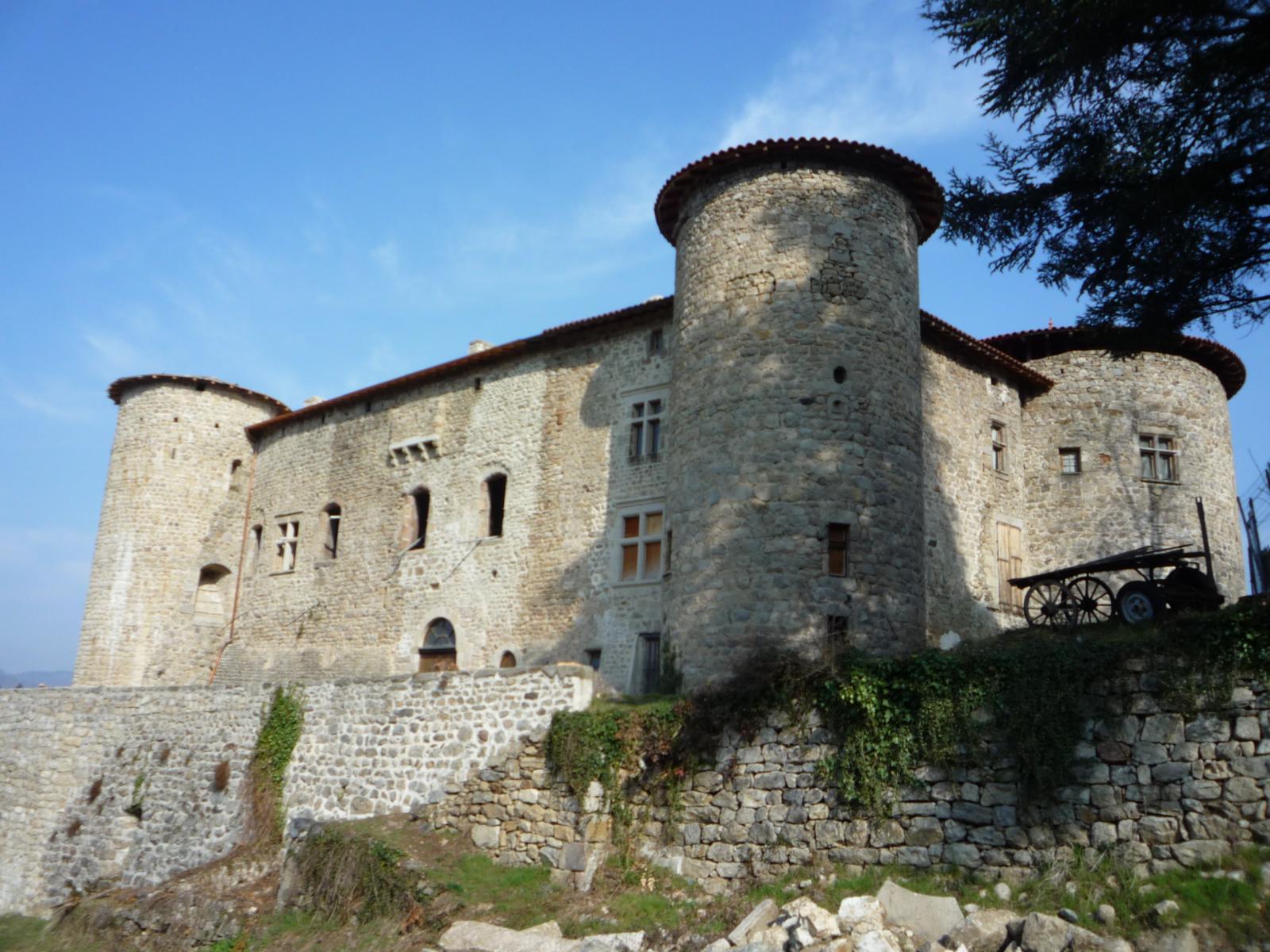 Face sud du Château de La Chèze
