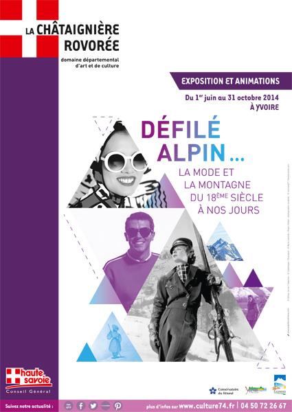 Défilé alpin...La mode et la montagne