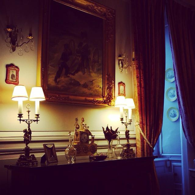 Salle a manger du chateau de La Montcehvalleraie (aviré, Segré)