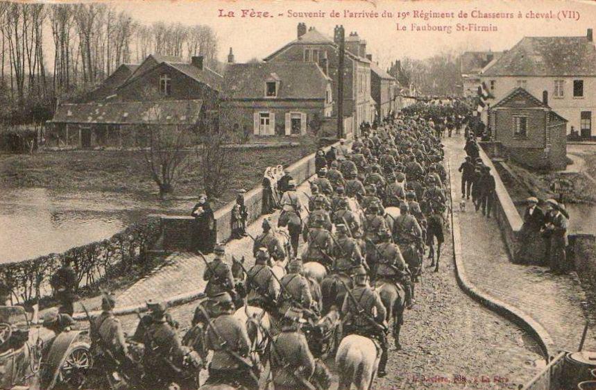 arrivée du 19ème régiment