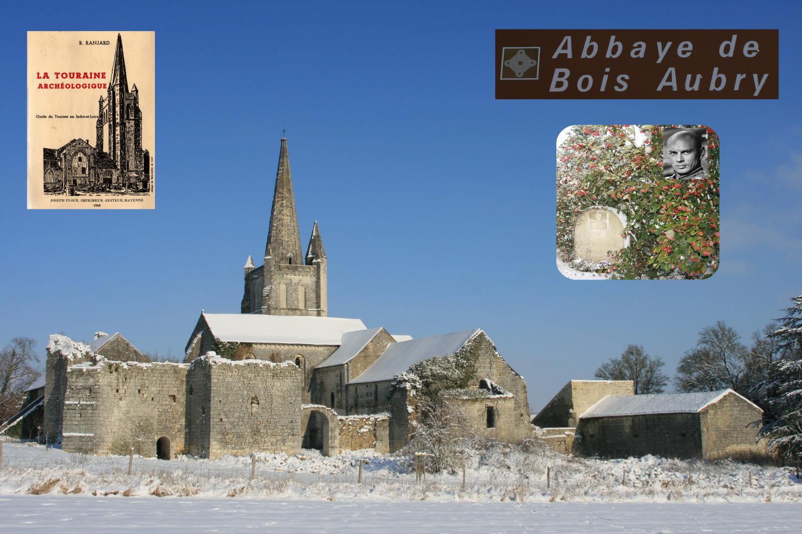 Abbaye R.S.M.Bois-Aubry vue à partir du sud