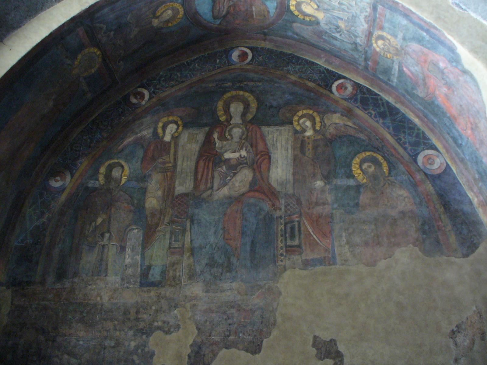 fresque de l'escalier central