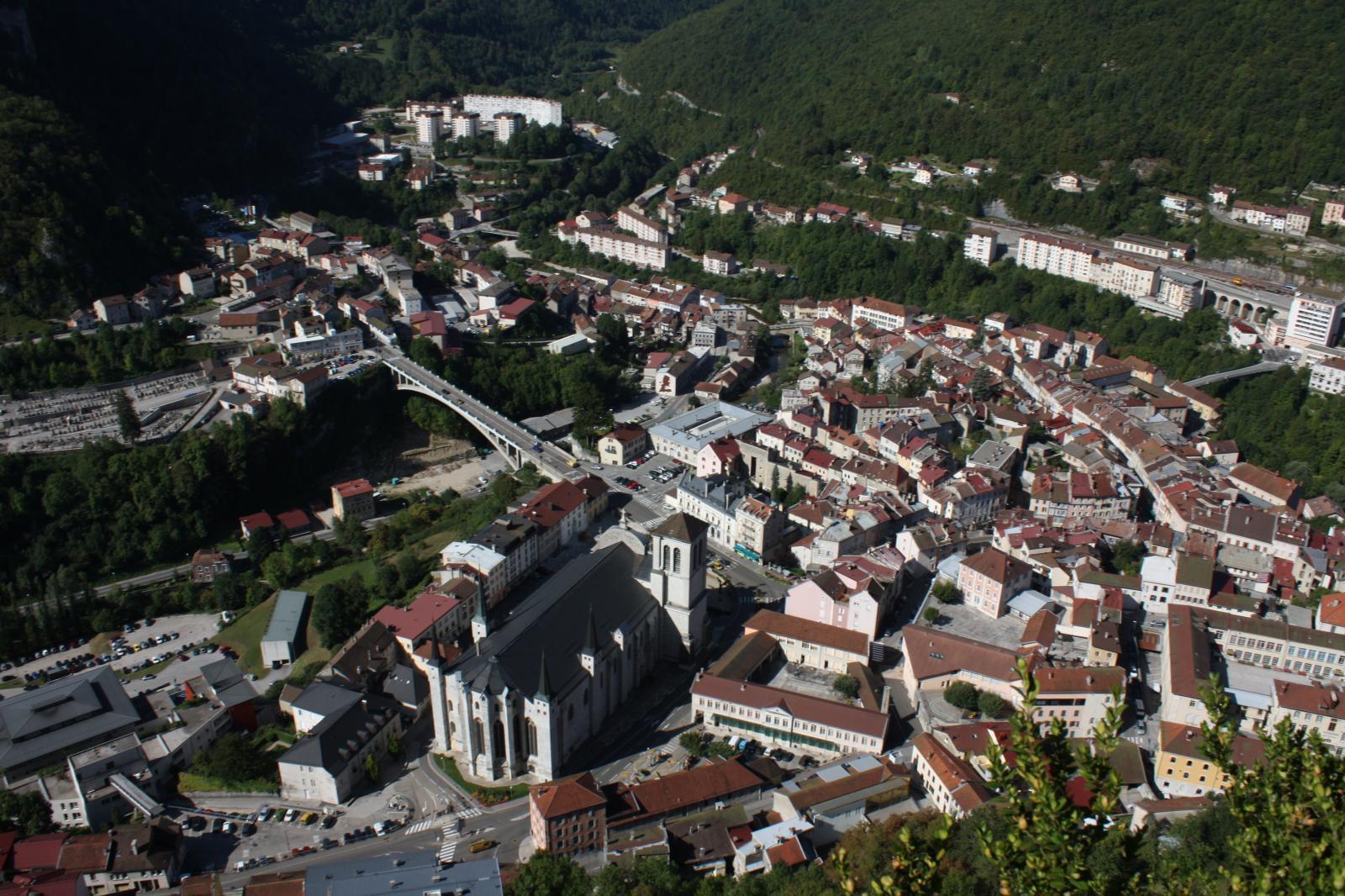 St-Claude vue du belvédère de l'Ermitage